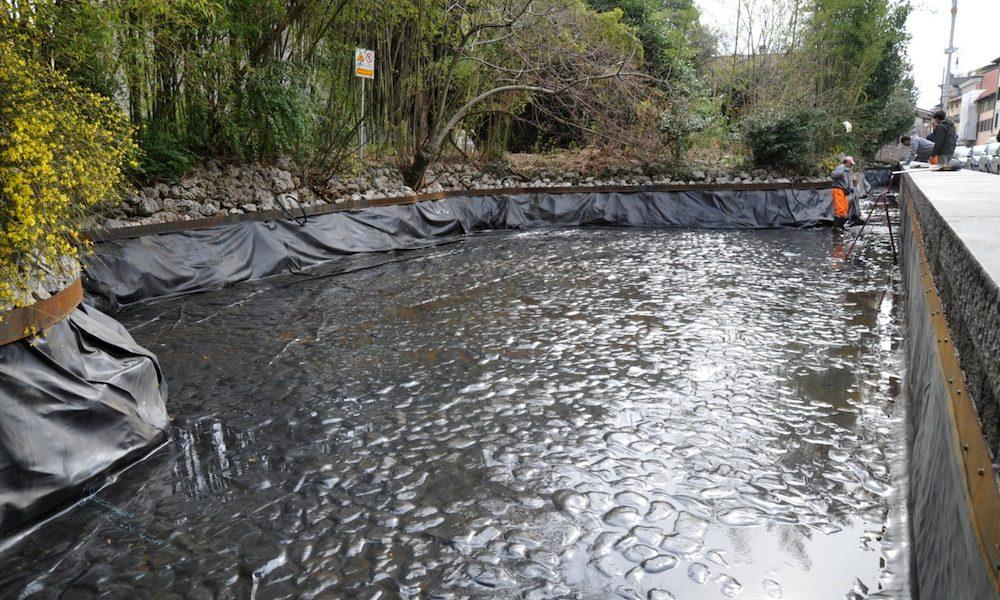 Laghetto di via gemona pulizia in corso for Pulizia laghetto