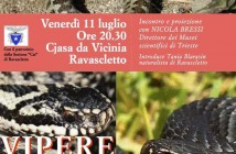 Montagne a sangue freddo: conferenza a Ravascletto su vipere e serpenti