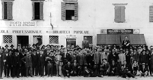 LaSocietà Operaia di Mutuo Soccorso ed Istruzione di Cividale del Friulicompie 150 anni.