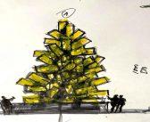 Il Natale Digitale di Fabrizio Plessi a Venezia